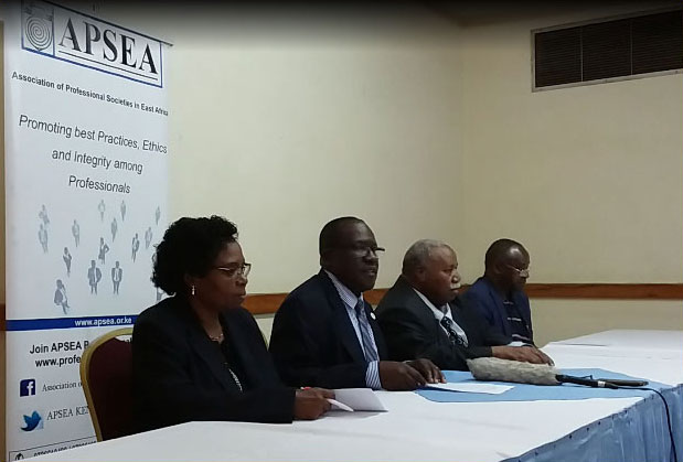 Press statement on the status of the Association of Professional Societies in East Africa (APSEA)